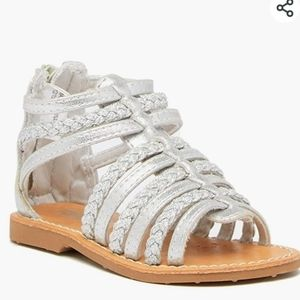 Harper canyon silver leather strappy sandals 6